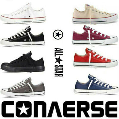 Classic Chuck Taylor Lo Top Trainer Sneaker All Stars OX NEW Size Flat Shoes UK√