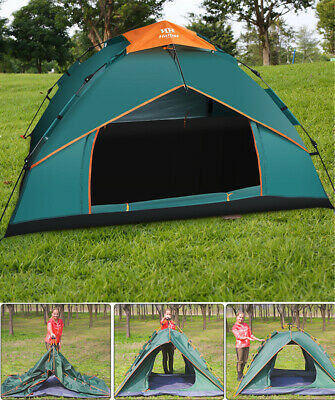 3-4 Man Person Camping Automatic Pop Up Tent Double Layer Festival Fishing Beach