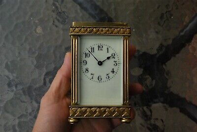 19th Century French Brass Carriage Clock. Full Working Order