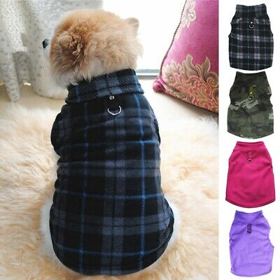 Small Pet Dog Warm Fleece Harness Vest Puppy Sweater Coat Shirt Jacket Apparel