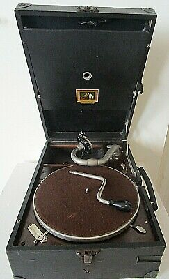 HMV 101 Portable Gramophone, SERVICED With Number 4 Soundbox  SUPERB