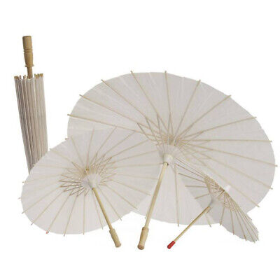 Chinese Vintage Classic DIY Paper Umbrella White Photo Shoot Decor Parasol Prop