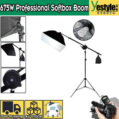 Photography Studio Softbox Boom Arm Lighting Stand Photo Video Soft Box Kit NEW