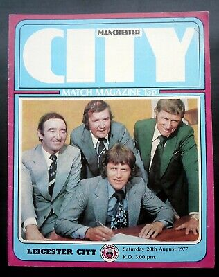 Manchester City v  Leicester City   20-8-1977    with token