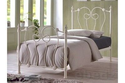 Inova single Ivory metal bed frame inc FREE next day delivery