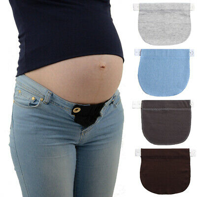 Maternity Pregnancy Adjustable Waist Jeans Trousers Band Belt Extender Button