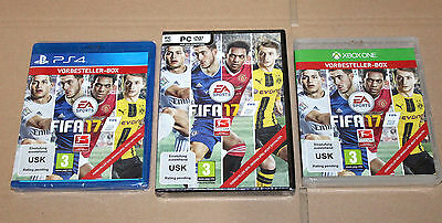 """Collectible FIFA 17 Preorder Boxes PlayStation 4 Xbox One PC """"NO GAME INCLUDED"""""""