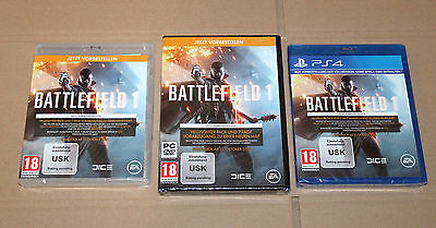 """Collectible Battlefield 1 Preorder Boxes PS4 PC Xbox One """"NO GAME INCLUDED"""""""