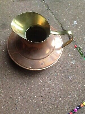 Vintage small copper Brass  milk Water pouring pan jug Made In England