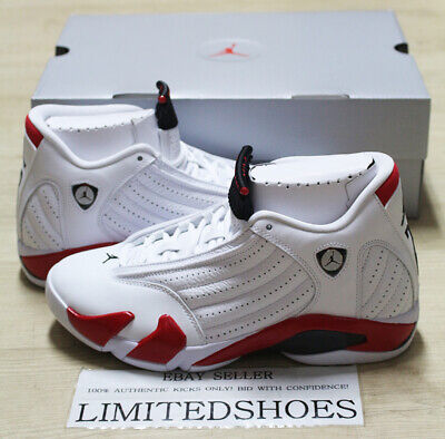 2b9584d12ab5 2019 Nike Air Jordan 14 Xiv Retro Candy Cane Rip Hamilton 487471-100 White  Red