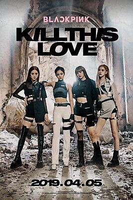 BLACKPINK {KILL THIS LOVE} Off Double Sided Folded Poster Free Domestic Shipping