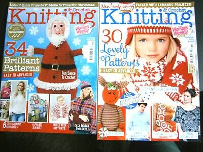 Knitting & Crochet Magazines Dec 2014 & Jan 2018 From Women's weekly (new)