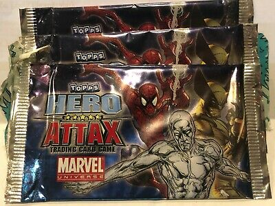 Topps Hero Attax card packets x3 unopened