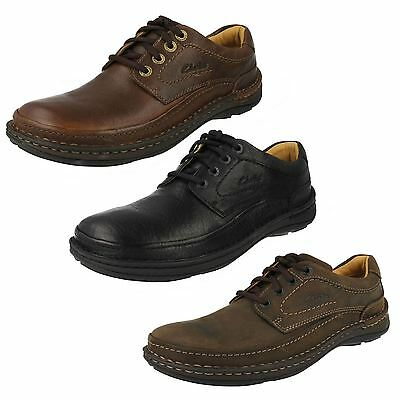 16ccb9301cc00 Mens Clarks Lace Up Casual Active Air Flow Grain Leather Shoes Nature Three