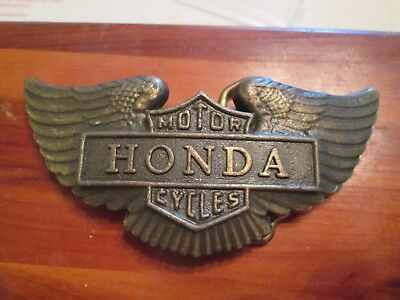 Honda Wings Motorcycle 1970's Vintage Belt Buckle