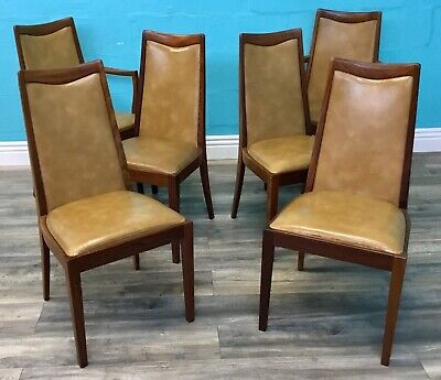 Quality Vintage Mid Century Retro Set Of Six G Plan Dining Chairs Armchairs