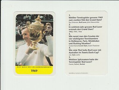 Tennis : Rod Laver : attractive German collectable game card