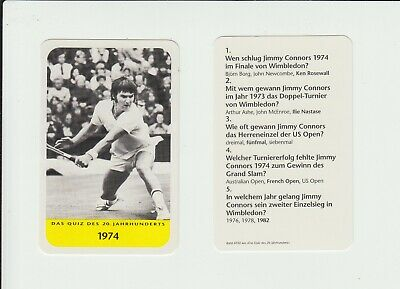 Tennis : Jimmy Connors : attractive German collectable game card