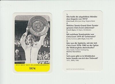 Tennis : Chris Evert : attractive German collectable game card