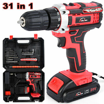 """3/8"""" cordless drill kit  driver drill with li-ion battery and charger tool 20V"""