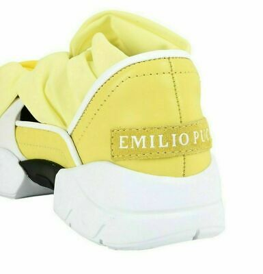 EMILIO PUCCI CITY Up Ruffle Trainers Shoes Slip On Sneakers