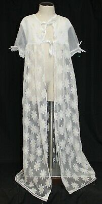Her Majesty VTG Girls Lace Robe Daisies Sz 8 Daisy Yellow