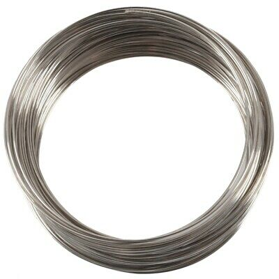 """100Loops Silver Plated Memory Beading Wire for Bracelet 50mm-55mm(2""""-2 1/8"""") 1Z"""