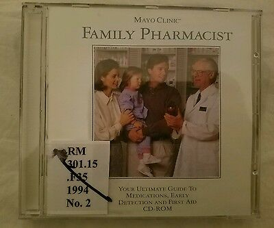 MAYO CLINIC FAMILY Pharmacist CD-ROM for Win/DOS - NEW CD in SLEEVE