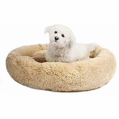 "Veehoo Self-Warming Round Dog Bed For Medium Dogs "" Cats, Luxurious Faux Fur Pet"