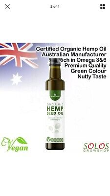 Hemp Seed Oil Certified Organic Australian Made