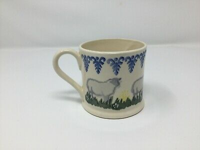 Brixton Pottery Small Mug Spongeware Sheep