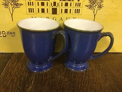 Denby - Imperial Blue - Footed  Mugs x 2