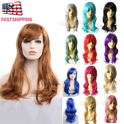 Long Wavy Wig Fashion 70cm Full Curly Wigs Cosplay Costume Anime Lady Party Hair