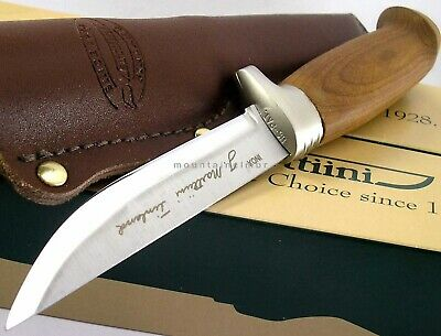 Marttiini Finland Skinner Hunter Lynx Fixed Blade 161 Birch Wood Knife 161013NI