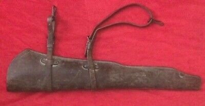 Original WW2 M1 Garand Rifle Scabbard with Straps and Hooks JQMD 1943