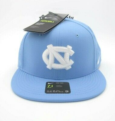 huge discount 21dfd bed8d New Nike True Aerobill UNC North Carolina Tar Heels Dri Fit Fitted Hat Sz 7  5