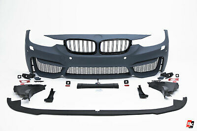 BMW 3 series F30 F31 sport M3 style front bumper with mesh Grille abs pp lip