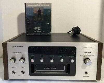Vintage Pioneer H-R99 8 Track Tape Deck Player Recorder W/ 2 Cassettes *TESTED*