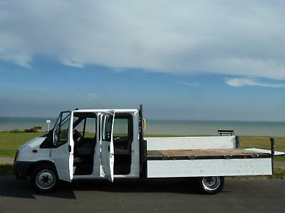 FORD TRANSIT 2.4TDCi 350L LWB EXTENDED FRAME 6 SEAT CREW CAB FLAT BED DROP SIDE