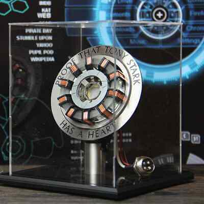 1:1 Iron Man Arc Reactor MK2 Tony Stark Heart Avengers Endgame LED DIY Model New