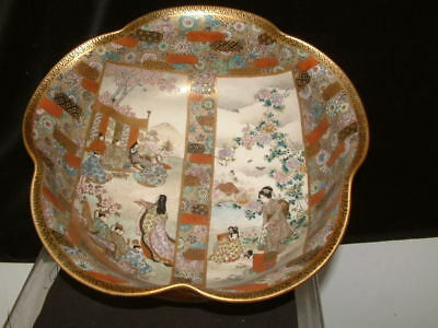 Superb Antique Japanese Satsuma Bowl, Marks On Base, Good Condition No Repairs.