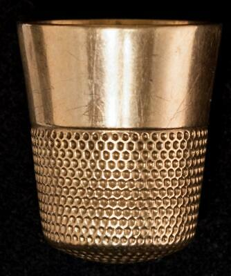 Antique Ketcham and McDougall 10k Gold Thimble Size 11