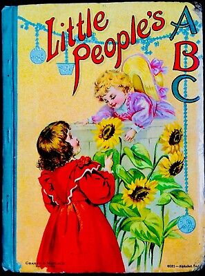 LITTLE PEOPLE'S ABC Picture Alphabet ~ Antique 1900's Victorian Children's Book