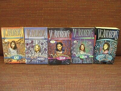 Lot 5 V.C. Andrews Wildflowers Series Complete Misty Star Jade Cat Into the Gard