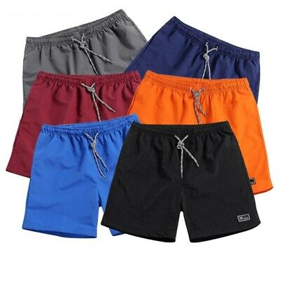 Men's Fitness Mid Waist Shorts Summer Sportswear Solid Breathable Elastic Casual