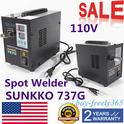 100V 800W Handheld 737G Battery Spot Welder Welding Machine Soldering Equipment