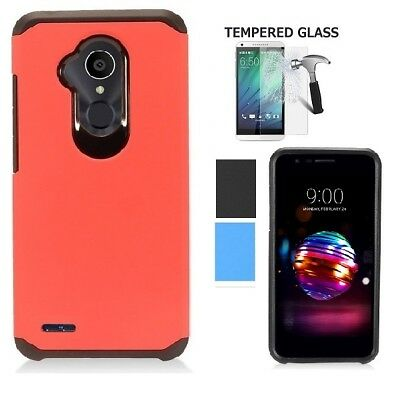 sale retailer f296a 4b887 FOR LG FIESTA 2/ X Charge/X Power 2/Phone Case+TEMPERED GLASS Cover ...