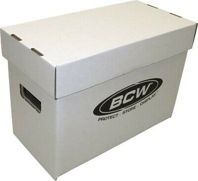 Lot of 1 NEW BCW Short Cardboard Comic Storage Box Holds 150-175 Comic Books