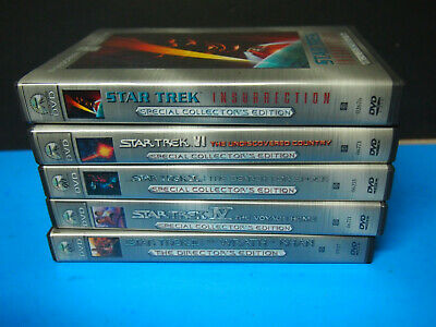 Star Trek: COLLECTORS EDITION DVD LOT Insurrection SEARH FOR SPOCK THE VOYAGE HO