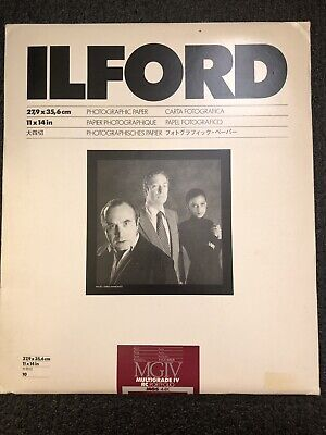 "ILford MGIV Multigrade IV RC Porfolio Photographic Paper 11x14"" Pearl 10 Sheet"
